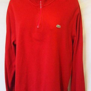 Lacoste Sweatshirt Size 4 Zip Up Mens Fashion